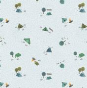 Lewis & Irene - Littondale - 6525 - Camping on Pale Blue - A359.1 - Cotton Fabric